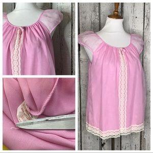 Vintage sheer pink necklace nighty